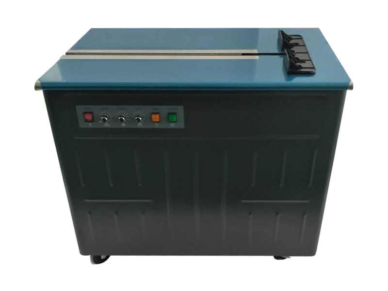 AS-11N Dual motor high table semi-automatic Carton Packing PP thermal strapping machine for box