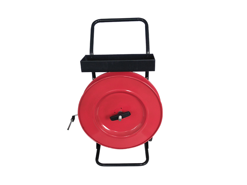 MPPK H405 Red Black Mobile Stand Hand Cart Band Trolley Strapping Tool Reinforced Two-wheel PET Strap Dispenser