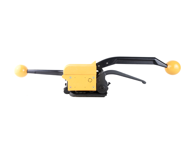 MPPK Manual tool Yellow A333 buckle free Sealless Handheld steel strapping machine for 13 16 19 mm Band