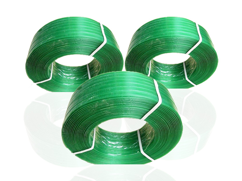 Strapping Tool Recyclable 16 19mm Polyester Polyethylene band Green PET Band Roll